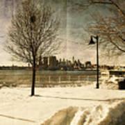 Philadelphia Snowscape Poster by Milton Brugada
