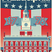Philadelphia Poster - Independence Hall Poster