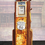 Phillips 66 Antique Gas Pump Poster