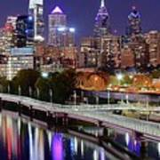 Philly In Panoramic View Poster