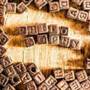 Philosophy Word Art Poster