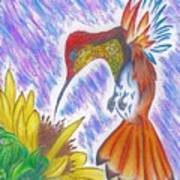 Phoenix Fire Hummingbird Poster
