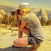 Photographer On Sentinel Dome Poster