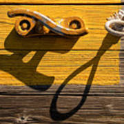 Pi Theta Shadows - Dock Cleat And Rope Poster