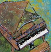 Piano Aqua Wall Poster