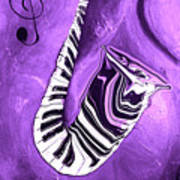 Piano Keys In A Saxophone Purple - Music In Motion Poster