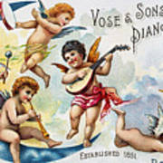 Piano Trade Card, C1880 Poster