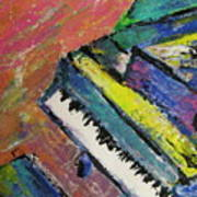 Piano With Yellow Poster by Anita Burgermeister