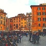 Piazza Della Rotunda In Rome 2 Poster by Jen White