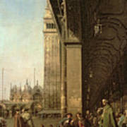 Piazza Di San Marco And The Colonnade Of The Procuratie Nuove Poster
