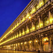 Piazza San Marco By Night Poster