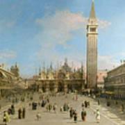 Piazza San Marco Looking Towards The Basilica Di San Marco  Poster