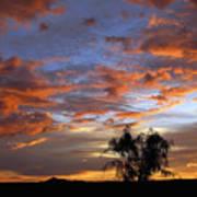 Picacho Peak Sunset II Poster