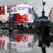 Piccadilly In The Rain Poster