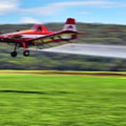Picking It Up And Putting It Down - Crop Duster - Arkansas Razorbacks Poster