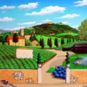 Picnic In Tuscany Poster