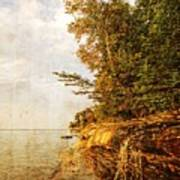 Pictured Rocks Water Poster