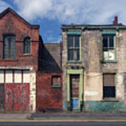 Picturesque Derelict Houses In Hull England Poster