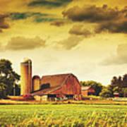 Picturesque North Dakota Farm Poster