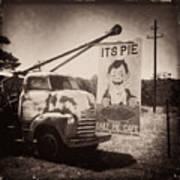 Pie Town Sepia Poster