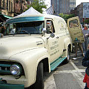 Pie Truck At The Food Festival Poster by Bernadette Claffey