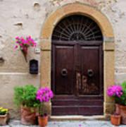 Pienza Doorway Poster