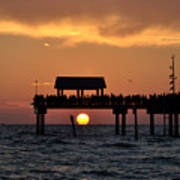 Pier 60 Clearwater Beach - Watching The Sunset Poster