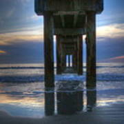 Pier View At Dawn Poster