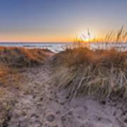 Pierport Beach Dunes Poster