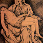 Pieta Study Poster