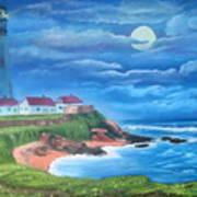 Pigeon Point Lighthouse Ca Poster