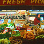 Pike Place Market Produce Poster