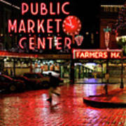 Pike Place Reflections Poster