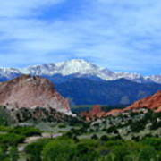 Pikes Peak And Garden Of The Gods 1 Poster