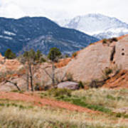 Pikes Peak From Red Rock Canyon Poster