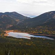 Pikes Peak Manitou Colorado Lake Poster
