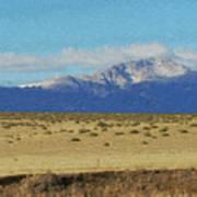Pikes Peak Painterly Poster
