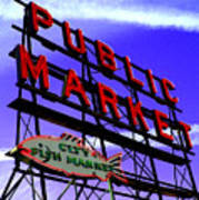 Pike's Place Market Poster
