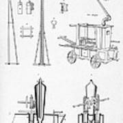 Pile Driver, Fire Engine, Steam Engine Poster