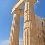 Pillars Of The Parthenon Poster