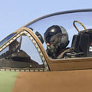 Pilot In The Cockpit Of A Skyhawk Fighter Jet  Poster