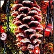 Pine Cone Ornament Poster