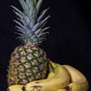 Pineapple And Bananas Poster
