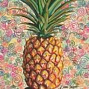 Pineapple Pattern Poster