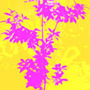 Pink Abstract Tree Poster