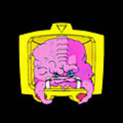 Pink Alien Poster