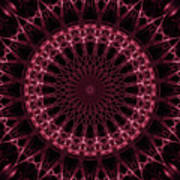 Pink And Red Glowing Mandala Poster