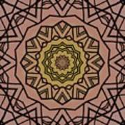 Pink And Yellow Kaleidoscope 1 Poster