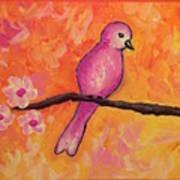 Pink Bird Poster