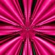 Pink Brocade Fabric Fractal 55 Poster